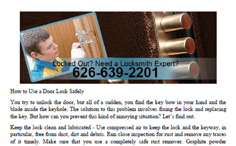How to Use a Door Lock Safely in Pasadena - Click to download
